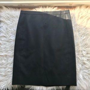 J.Crew Black Cotton Pencil Skirt 4P